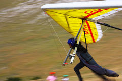 Competitor of the Dutch Open-2010 hang gliding com Royalty Free Stock Photography