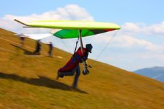 Competitor of the Dutch Open-2010 hang gliding com Royalty Free Stock Photos
