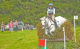 Competitor entering the  water at Blair Castle. Stock Images