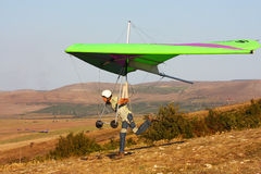Competitor of the hang gliding competitio Royalty Free Stock Photos