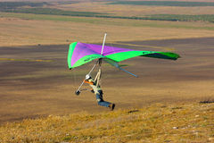 Competitor of the hang gliding competitio Stock Photos