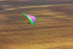 Competitor of the hang gliding competitio Stock Photo