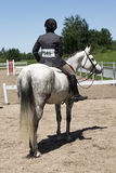 Competitor with her horse Royalty Free Stock Images