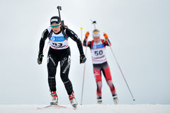 Competitor in IBU Youth&Junior World Championships Biathlon Stock Photography