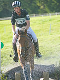 Competitor leaving the water at Blair Castle. Stock Photo