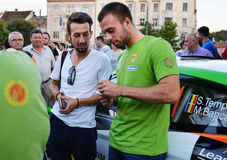 Competitor Simone Tempestini gives autographs to fans Royalty Free Stock Image