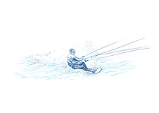 Competitor in water skiing Stock Image