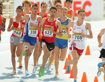 Competitors of 3000m steeplechase Royalty Free Stock Photo