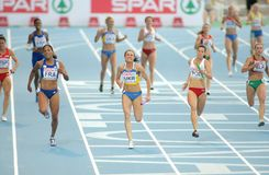 Competitors of 4X100 Relay Royalty Free Stock Image