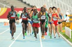 Competitors of 5000 meters stock photo