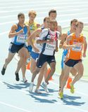 Competitors of 800m Men Royalty Free Stock Images