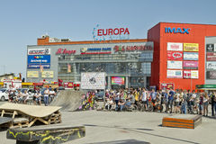 Competitors in the BMX awaiting the commencement of the competit Stock Photography