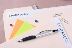 Competitors and contracts Royalty Free Stock Images