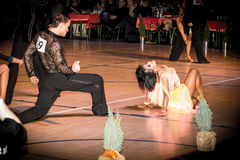 Competitors dancing latin dance on the conquest Stock Photography