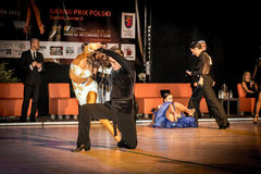 Competitors dancing latin dance on the conquest Stock Photo