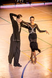 Competitors dancing latin dance on the conquest Royalty Free Stock Photos