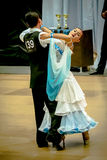 Competitors dancing slow waltz on  the dance conquest Stock Photo