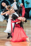 Competitors dancing slow waltz or tango Royalty Free Stock Images