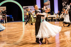 Competitors dancing slow waltz or tango Stock Image