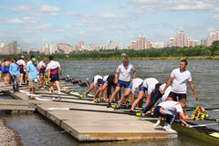 Competitors at Great Moscow Regatta 2011 Royalty Free Stock Photography