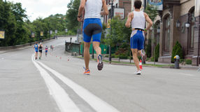 Competitors in a marathon or road race Stock Photo