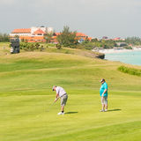 Competitors playing at the Varadero Golf Club Stock Image