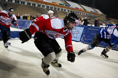Competitors race at the Redbull Crashed Ice Stock Photo