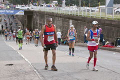 Competitors Running in Comrades Marathon In South Africa Stock Photography