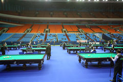 Competitors are take part in  Billiards Tournament Stock Image