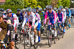 Competitors and teams in Giro d'Italia 2010 Royalty Free Stock Images