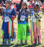 Competitors in tribal dance competition Stock Photos