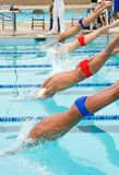 competitve συναντηθείτε κολυμπά στοκ φωτογραφίες