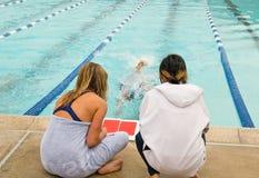 competitve συναντηθείτε κολυμπά Στοκ Εικόνες