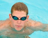 Competitve Swim Meet royalty free stock photo