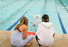 Competitve Swim Meet Stock Images