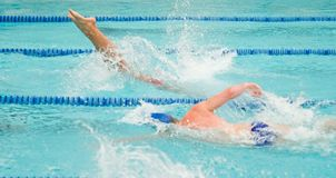 Competitve Swim-Treffen Lizenzfreies Stockfoto