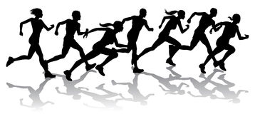 Competência dos corredores Imagens de Stock Royalty Free