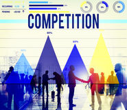 Compettion Compettitive Marketing Race Solution Concept Stock Photography