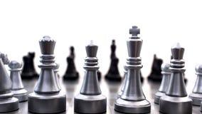 Compettitionconcept van de schaakraad Royalty-vrije Stock Fotografie