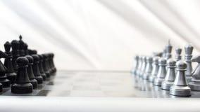 Compettitionconcept van de schaakraad Stock Fotografie