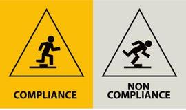 Compiance Conceito com ícones e vetor dos sinais ilustração stock
