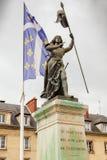 Compiegne Frankrike för Jeanne D bågstaty Royaltyfri Fotografi