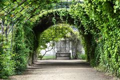 Compiegne gardens Stock Photo