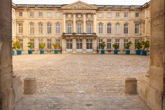 Compienge城堡瓦兹省法国 图库摄影