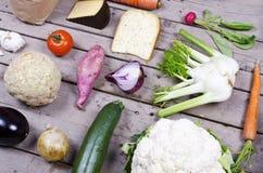 Compilação de vegetais orgânicos Foto de Stock Royalty Free