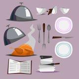 Compilação do restaurante Objetos isolados do vetor Foto de Stock Royalty Free