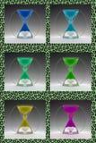 Compilatie gekleurde zandlopers tot 1960-1970 Royalty-vrije Stock Afbeelding