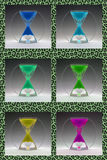 Compilation colored egg timers to 1960-1970 Royalty Free Stock Image