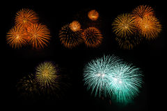Compilation of fireworks Royalty Free Stock Images