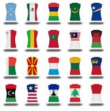 Compilation of nationals flag shirt icon on white background part 610 Royalty Free Stock Image